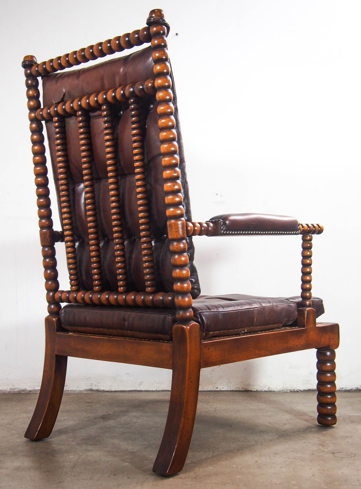 Spanish Valenti Wood Twist Style Arm Chair