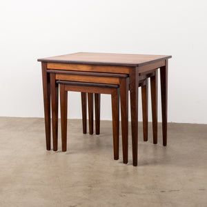 Mid-century Danish rosewood nesting tables.