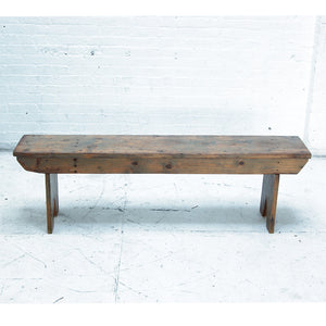 Antique Outdoor Wooden Bench