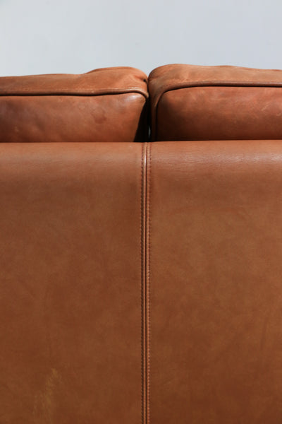 Stouby Milk Chocolate Leather Sofa