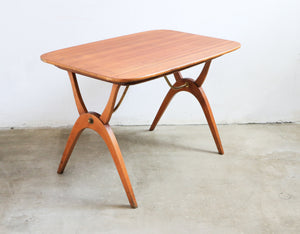 Oak Curved Leg Table