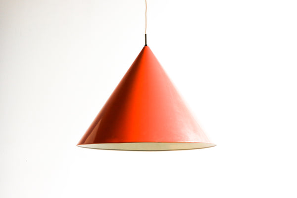 1960s Mid-Century Orange Billiard Pendant by Arne Jacobsen for Louis Poulsen
