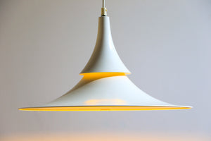 Hamalux Fluted White Hanging Lamp