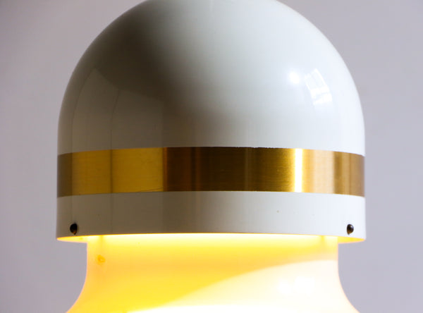 Dome-Top Fluted Hanging Lamp