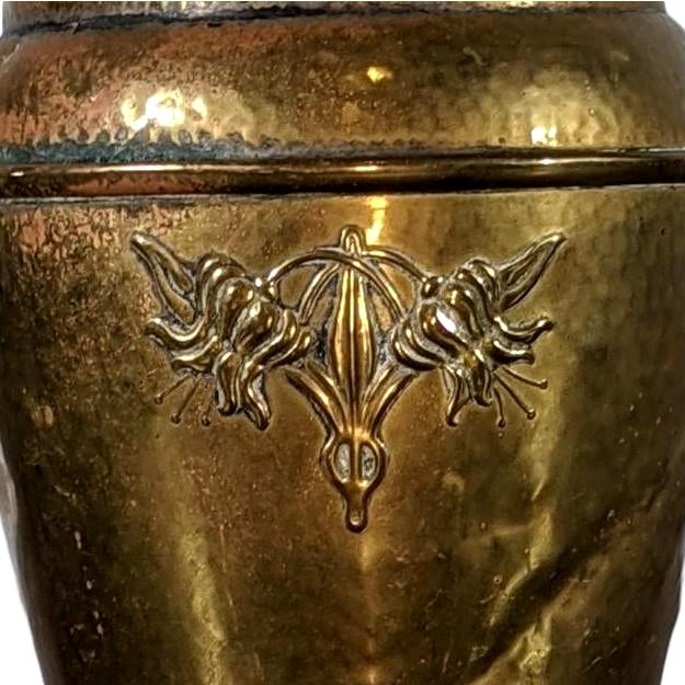 Brass Antique Vase With Pairs of Flower