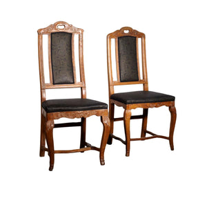 Danish Carved Beech Regency Chairs Circa 1750 - A Pair