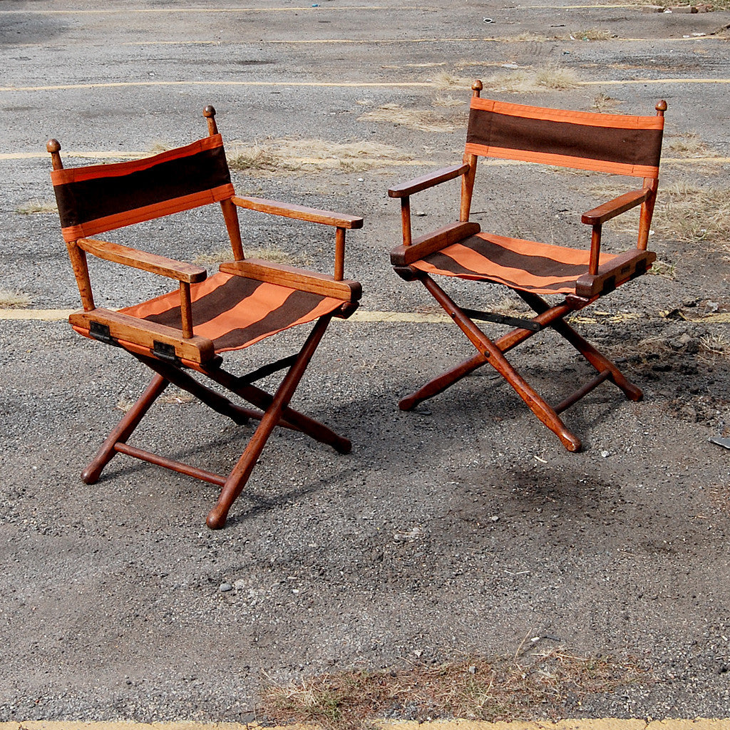 A Pair of Director's Chairs by Gold Medal Manufacturing Company, Circa 1940