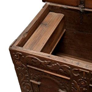Early 18th Century Danish Carved Trunk