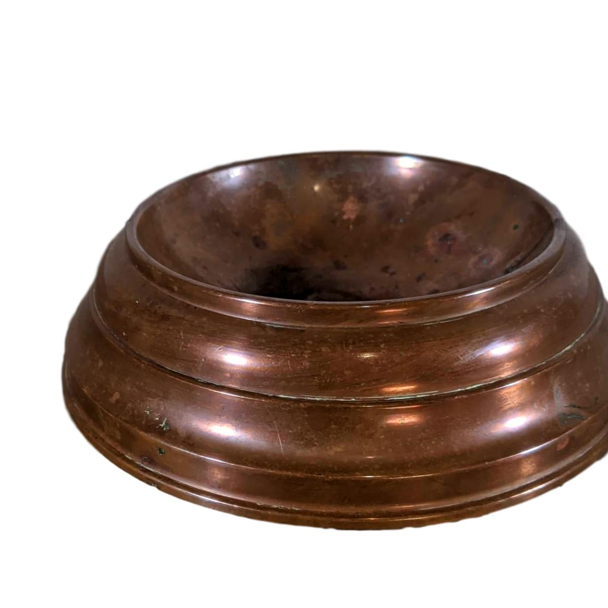 French Antique Brass Dog Bowl