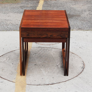 Pair of Mid Century Rosewood Nesting Tables