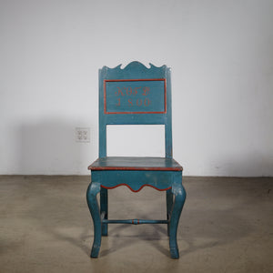 Danish country painted chair circa 1800