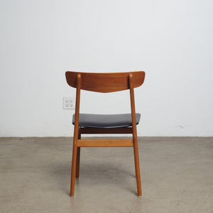 Set of four Farstrup Danish Modern Teak Dining Chairs.