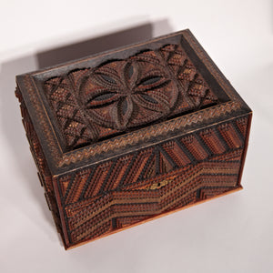 Swedish Tramp art jewelry box circa 1890