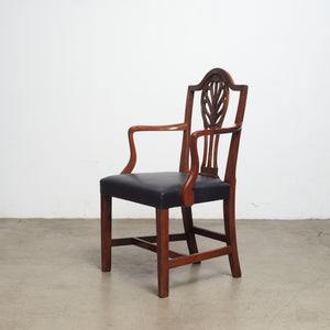 19th century Danish mahogany armchair