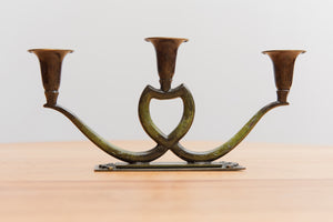 Three Tulip Styled Candleholder