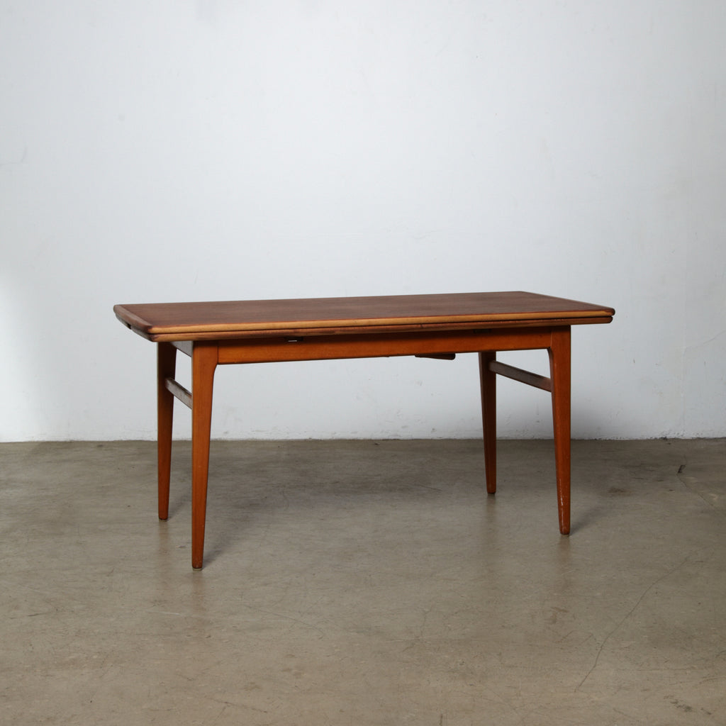 1960s Danish Teak Adjustable Height Coffee Table to Dining Table