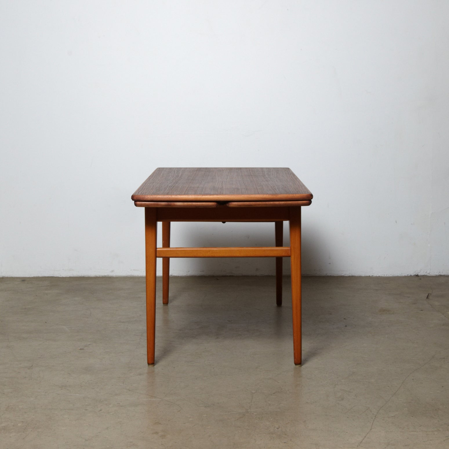 Picture of: 1960s Danish Teak Adjustable Height Coffee Table To Dining Table Tiger Oak Brooklyn