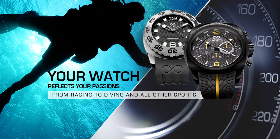Your Watch Reflects your Passions from Racing to Diving and All Other Sports