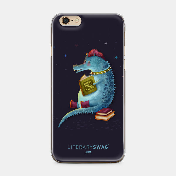 Dragon With The Girly Tattoo iPhone Case - LiterarySwag