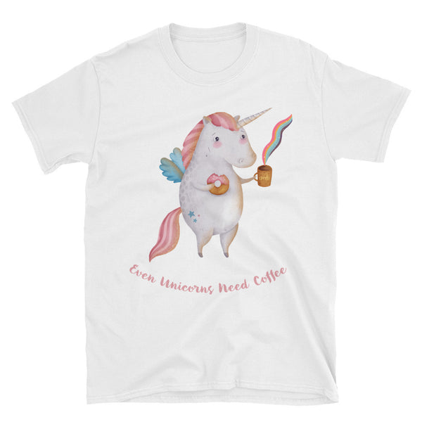 Unicorns Need Coffee Unisex T-Shirt