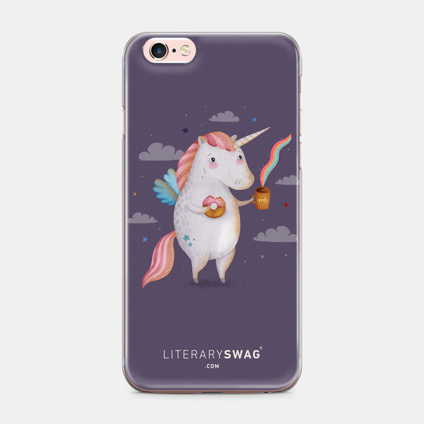 Unicorns Need Coffee iPhone Case - LiterarySwag