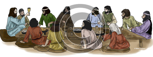 Last Supper - Bible Illustration (Hi-Res. Download) 1-Year License
