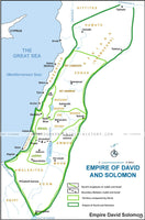 I Kings Empire of David and Solomon - Basic Map (Hi-Res. Download) 1-Year License