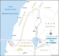 I Kings Zarephath Mount Carmel - Basic Map (Hi-Res. Download) 1-Year License