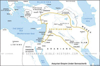 II Kings Assyrian Empire Under Sennacherib - Basic Map (Hi-Res. Download) 1-Year License