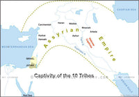 II Kings Captivity of 10 Tribes - Basic Map (Hi-Res. Download) 1-Year License