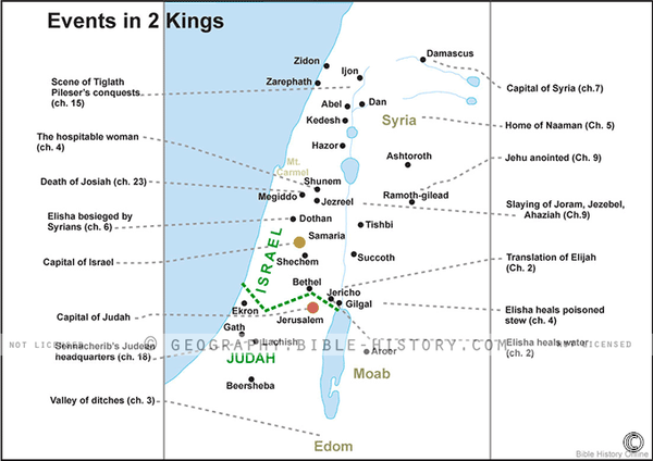 Events in 2 Kings - Basic Map (Hi-Res. Download) 1-Year License