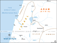 Israel and Syria - Basic Map (Hi-Res. Download) 1-Year License