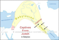 II Kings Judah Captives Babylon - Basic Map (Hi-Res. Download) 1-Year License