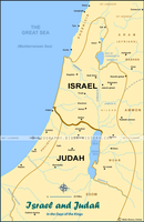 Israel and Judah - Color Map (Hi-Res. Download) 1-Year License
