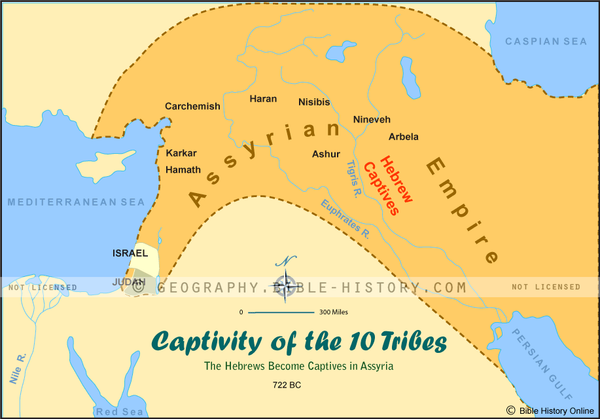 Captivity of the 10 Tribes Color Map (Hi-Res. Download) 1-Year License