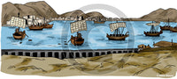 Harbor from Ancient Time - Bible Illustration (Hi-Res. Download) 1-Year License