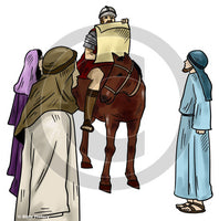 Announcement from Rome - Bible Illustration (Hi-Res. Download) 1-Year License