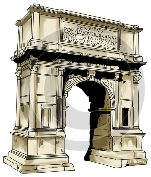 Arch of Titus - Bible Illustration (Hi-Res. Download) 1-Year License