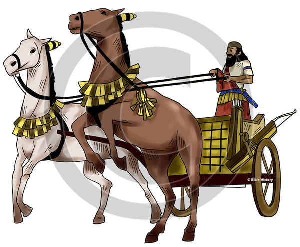 Assyrian Chariot - Bible Illustration (Hi-Res. Download) 1-Year License