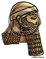Head of Sennacherib - Bible Illustration (Hi-Res. Download) 1-Year License