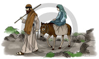 Joseph and Mary - Bible Illustration (Hi-Res. Download) 1-Year License