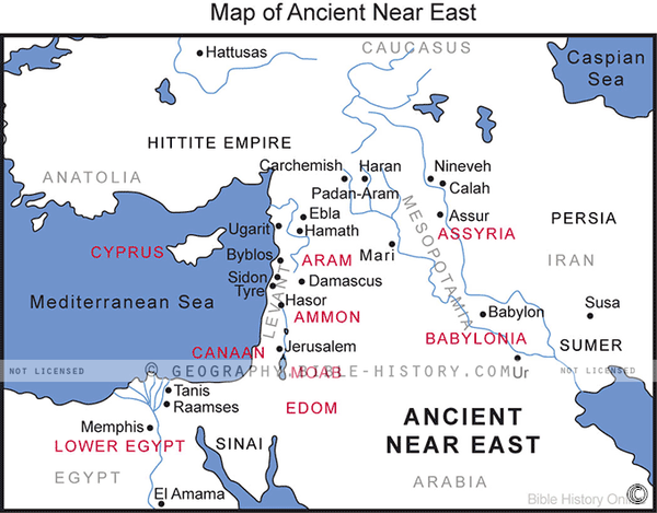 Map Ancient Near East - Basic Map (Hi-Res. Download) 1-Year License