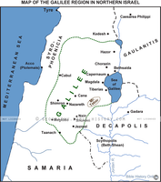 Galilee Region in New Testament Israel - Basic Map (Hi-Res. Download) 1-Year License