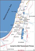 Israel in Old Testament Times - Basic Map (Hi-Res. Download) 1-Year License