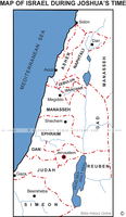 Israel During Joshua's Time - Basic Map (Hi-Res. Download) 1-Year License