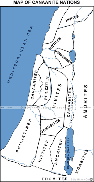 Canaanite Nations - Basic Map (Hi-Res. Download) 1-Year License