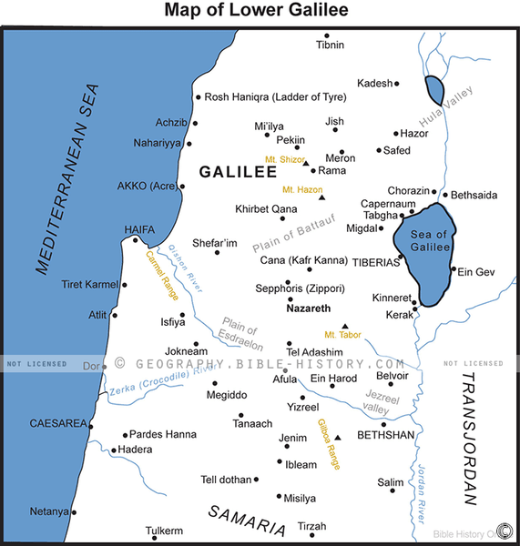 Lower Galilee - Basic Map (Hi-Res. Download) 1-Year License