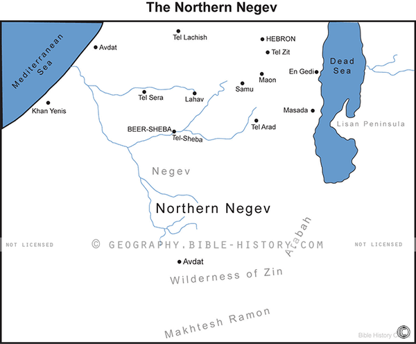 The Northern Negev - Basic Map (Hi-Res. Download) 1-Year License