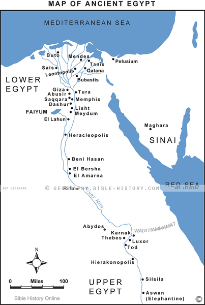 Egypt in Ancient Times - Basic Map (Hi-Res. Download) 1-Year License