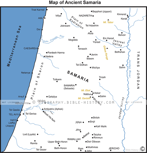Ancient Samaria - Basic Map (Hi-Res. Download) 1-Year License